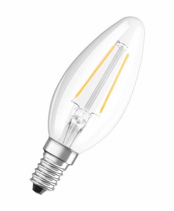 Osram LED Kerzenlampe RF Classic B23 ,  E 14 - 2 W, Filament, klar