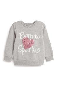 Pullover mit Pailletten (kleine Mädchen)