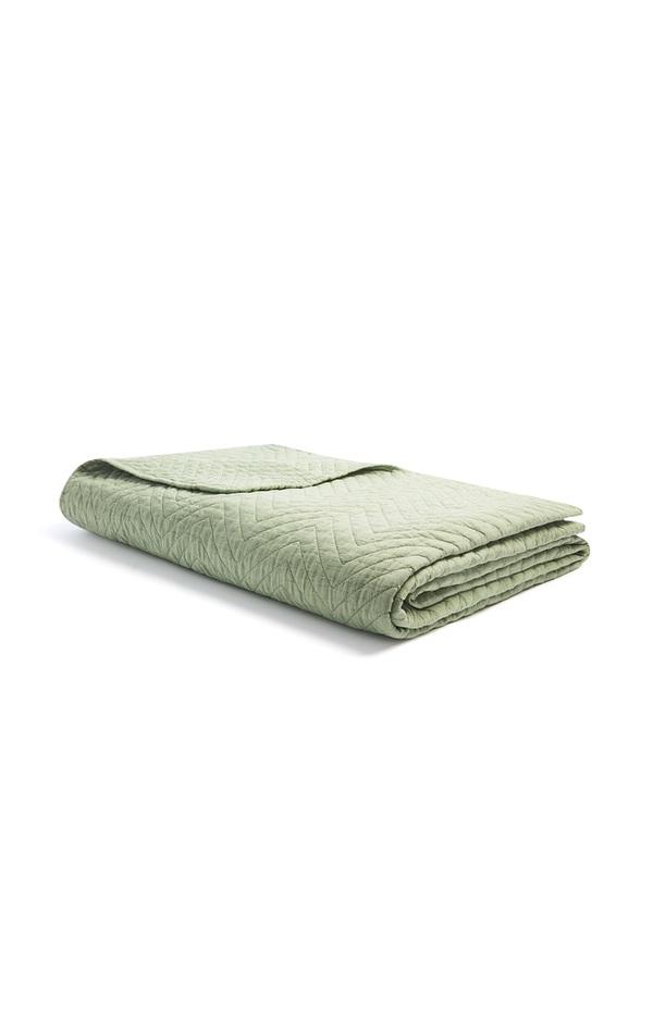 Gesteppte Decke in Grün