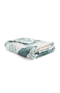 Decke mit Blätterprint