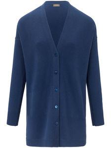 Long-Strickjacke aus 100% Kaschmir include blau