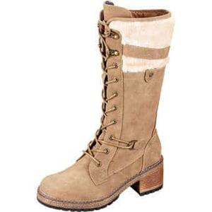 Inspired Shoes Schnürstiefel Damen beige