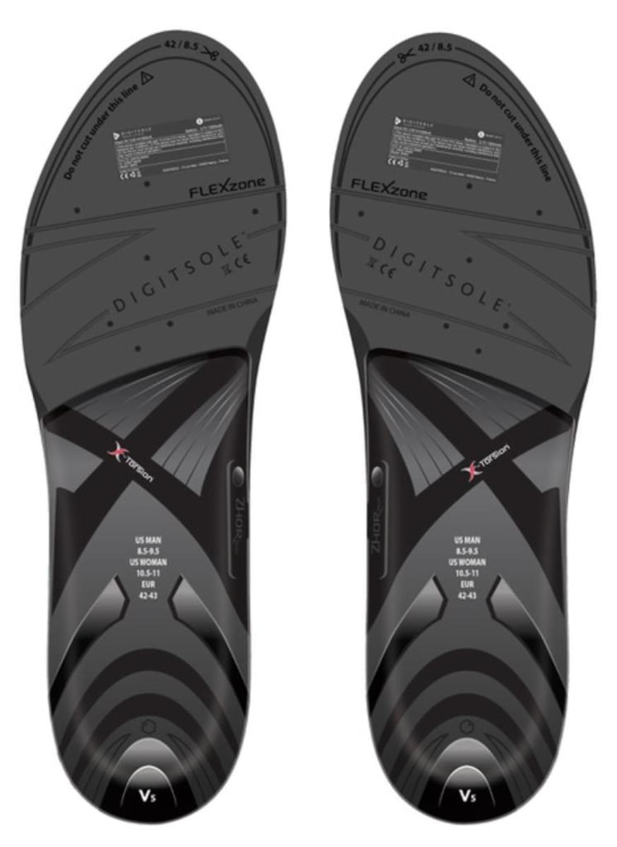 Bild 2 von Digitsole Einlegesohle Warm V5 Series  Gradation Black Red, Größe: 44-45
