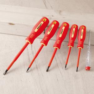 Kraft Werkzeuge Isolierte Schraubendreher 6teilig