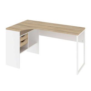 Schreibtisch Function Plus (eiche-weiß)