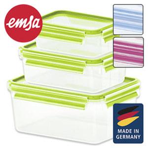 """Frischhaltedosen-Set """"Clip & Close"""" - versch. Farben - ca. 0, 5, 1, 0 und 2,3 Liter Inhalt, je"""