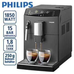 Kaffee-Vollautomat HD 8827/01 • 2 Aromastärke- und 5 Malgrad-Einstellungen • Keramik-Scheibenmahlwerk