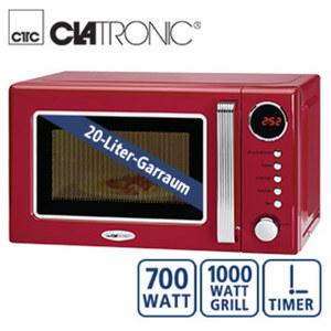 Mikrowelle mit Grill MWG 790 • 5 Leistungsstufen • 9 autom. Garprogramme • Digitaluhr • Maße: H 26 x B 44 x T 37 cm