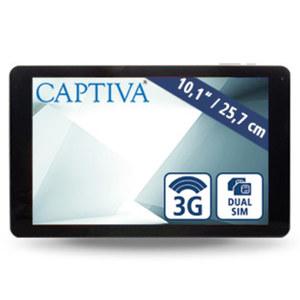 Tablet Captiva® Pad 10 3G Plus · Cortex A7 Quad-Core-Prozessor (bis zu 1,3 GHz) · 2 Kameras (0,3 MP/2 MP) · microSD™-Karte bis 32 GB · Android™ 7.0