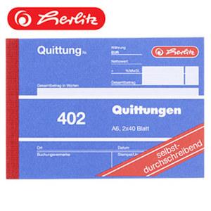 Quittungsblock DIN A6, 2 x 40 Blatt
