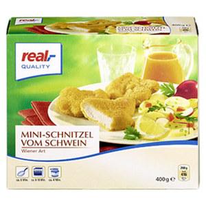 Mini-Schnitzel v. Schwein Wiener Art gefroren, jede 400-g-Packung und weitere Sorten