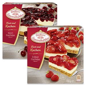 Coppenrath & Wiese  Lust auf Kuchen Erdbeer-Frischkäse gefroren, jede 550-g-Packung und weitere Sorten