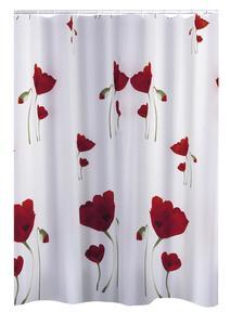Ridder Duschvorhang Textil 180x200 cm Mohn