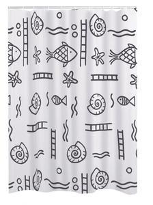 Ridder Duschvorhang Textil 120x200 cm Neptun grau