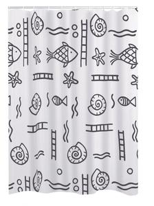 Ridder Duschvorhang Textil 180x200 cm Neptun grau