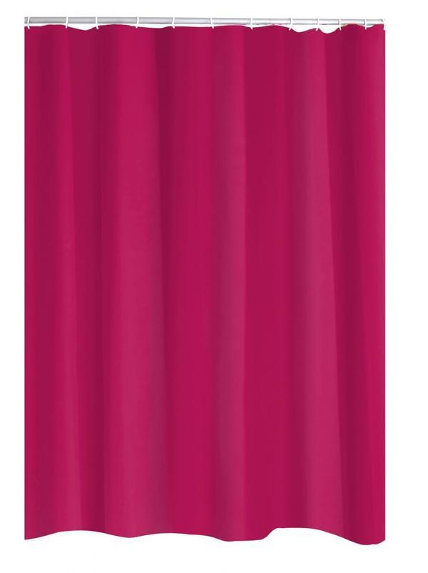 Ridder Duschvorhang Textil 180x200 Cm Madison Himbeerrot Von Norma