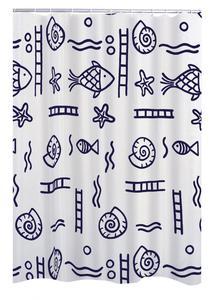 Ridder Duschvorhang Textil 120x200 cm Neptun blau