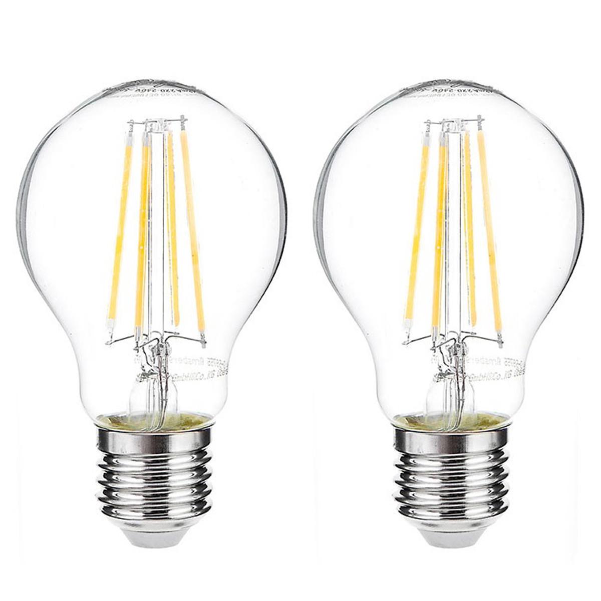 Bild 1 von I-Glow LED-Leuchtmittel Filament 360° - Birne, 7 Watt, E27, klar 2er Set