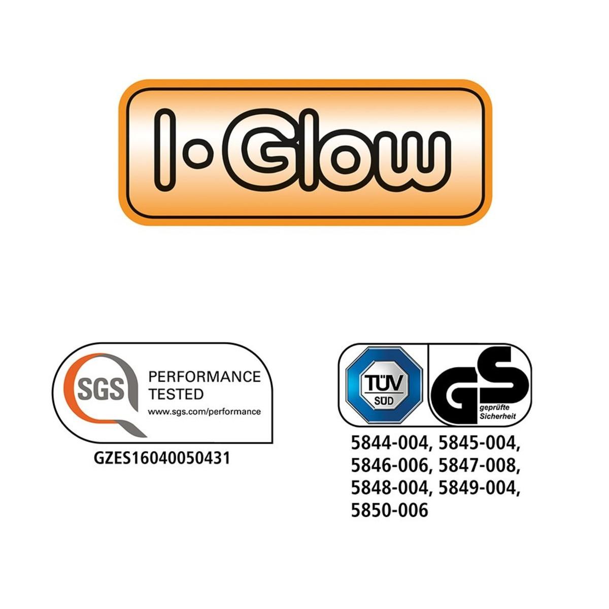 Bild 3 von I-Glow LED-Leuchtmittel Filament 360° - Birne, 7 Watt, E27, klar 2er Set