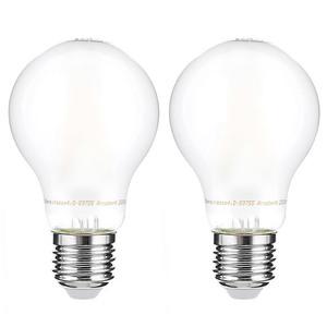 I-Glow LED-Leuchtmittel Filament 360° - Birne, 7 Watt, E27, matt 2er Set