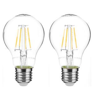 I-Glow LED-Leuchtmittel Filament 360° - Birne, 4 Watt, E27, klar 2er Set