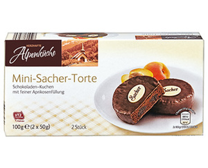 HERZHAFTE Alpenküche Mini-Sacher-Torte
