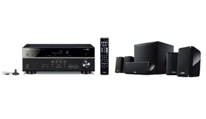 Yamaha YHT-2950 BL, Nicht enthalten, 5.1 Kanäle, DTS-HD Master Audio,Dolby Digital Plus,Dolby TrueHD, 24-bit/192kHz, AM,FM, 30 W