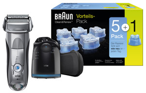 Braun Rasierer  Serie7-7790Cc 166849 + Kartuschen Clean&Renew 5+1er Pack