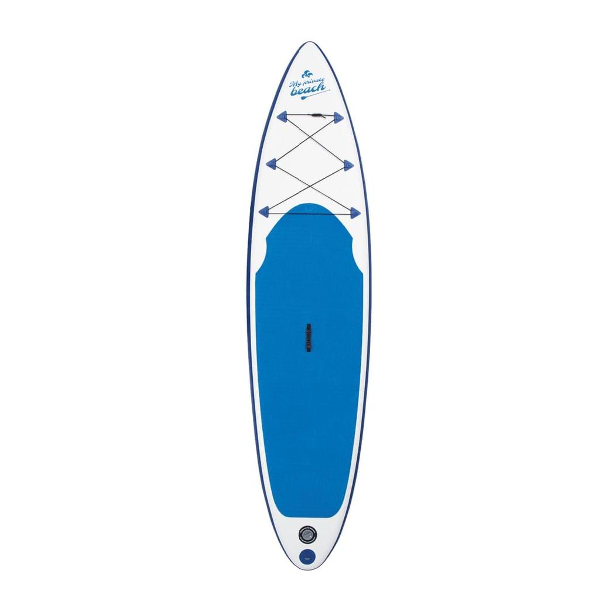 Bild 2 von EASYmaxx Stand Up Paddle Board - Paddelboard Wellenreiter aufblasbar - 320 x 76 x 15 cm - weiß/blau | SUP | Surfboard