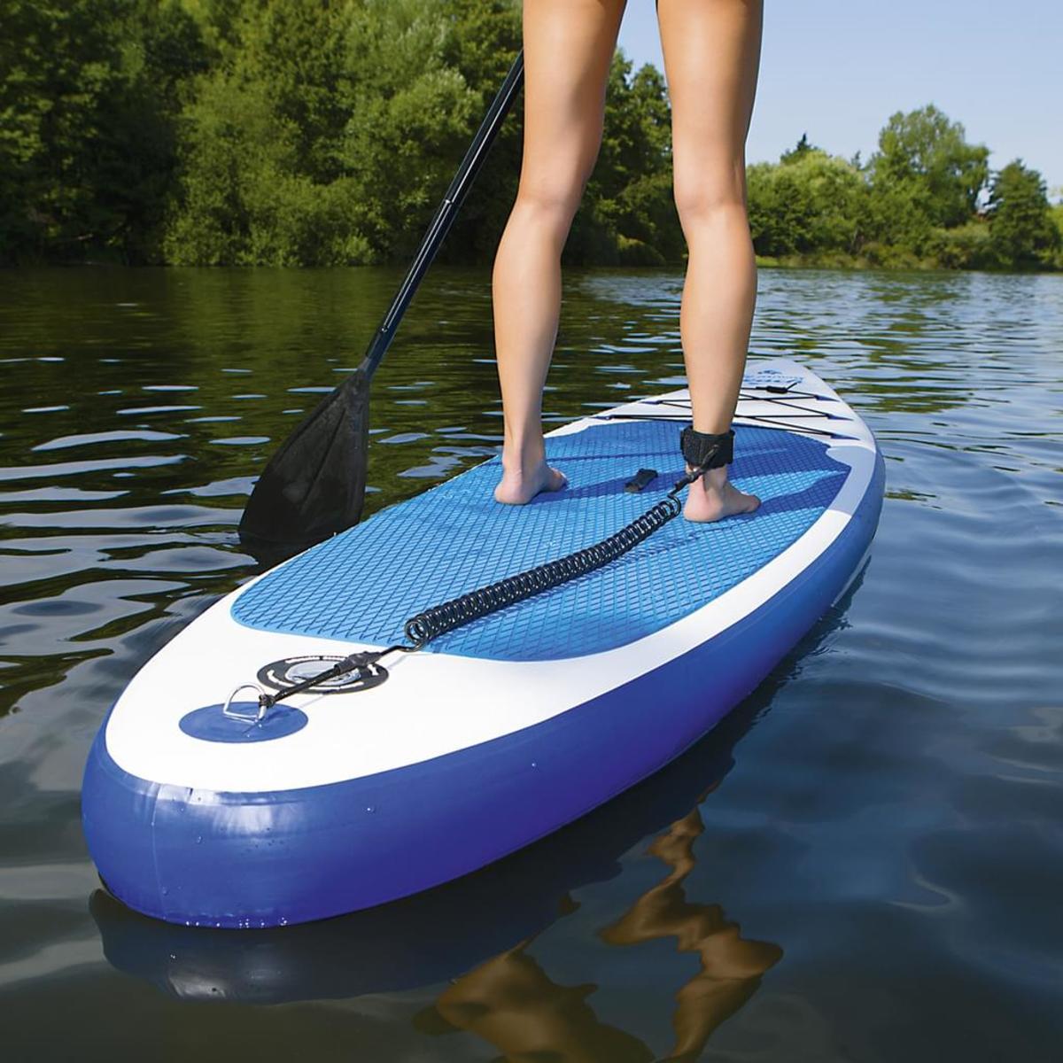 Bild 5 von EASYmaxx Stand Up Paddle Board - Paddelboard Wellenreiter aufblasbar - 320 x 76 x 15 cm - weiß/blau | SUP | Surfboard