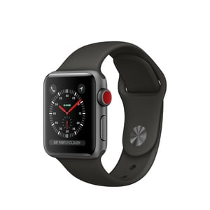 Apple Watch Series 3 LTE 38mm Sportarmband space grau 16GB