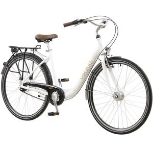 28 Zoll Viking Prelude Citybike mit Starrgabel Stadt Fahrrad Licht 7 Gang Nexus