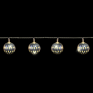 Kete silber Ball warm white 8 led batteriebetrieben with try me pdq - l105cm