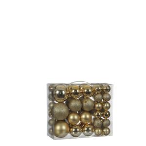 Kugel bruchfest gold 46 Stück - d8cm
