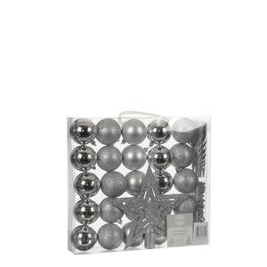 Dekoration Package bruchfest silber 33 Stück - l29,5xb6xh32cm