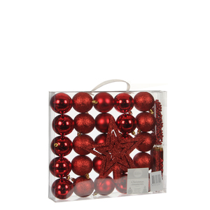 Dekoration Package bruchfest rot 33 Stück - l29,5xb6xh32cm