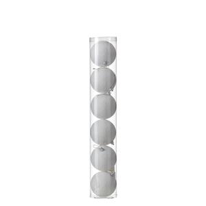 Ornament Kugel weiss 6 Stück - d8cm