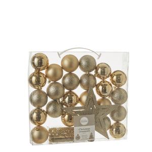 Kugel bruchfest gold 33 Stück - d6cm