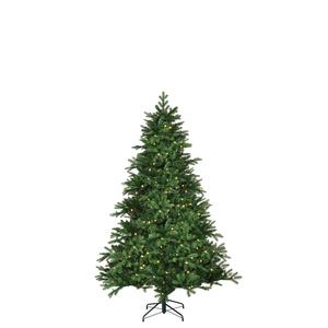 Black Box Trees Brampton Spruce künstlicher Weihnachtsbaum 140 LED, 948 Tips - Farbe: Grün - Höhe: 155 cm - Ø 107 cm; 382775