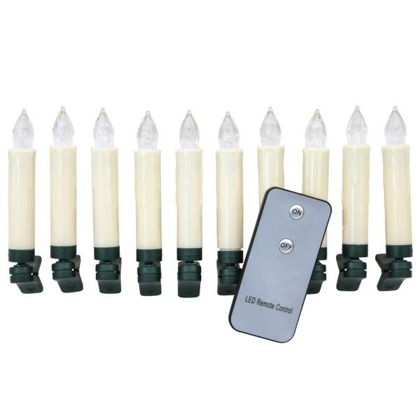 led lichterkette kabellos mit 10 kerzen von sonderpreis. Black Bedroom Furniture Sets. Home Design Ideas