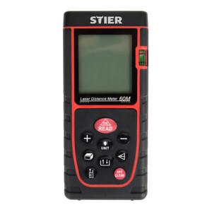 STIER Laser-Entfernungsmesser Profi+ 60 m