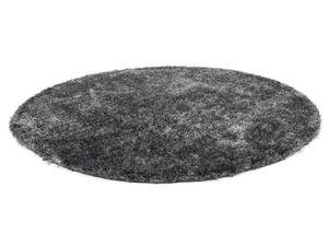 KAYOOM Hochflorteppich Diamond 700 Grau / Weiß RUND