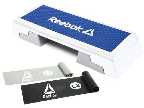 Reebok Stepboard Set inkl. Trainingsbänder