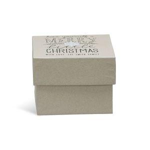 Geschenkbox X-Mas, L:17cm x B:17cm, natur