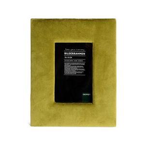 Bilderrahmen Samt, L:15cm x B:10cm, moosgrün