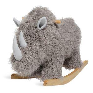 Schaukeltier Urzeit Rhino, 90x39x63cm, taupe