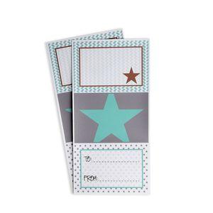Sticker Sterne, 12er Set, bunt