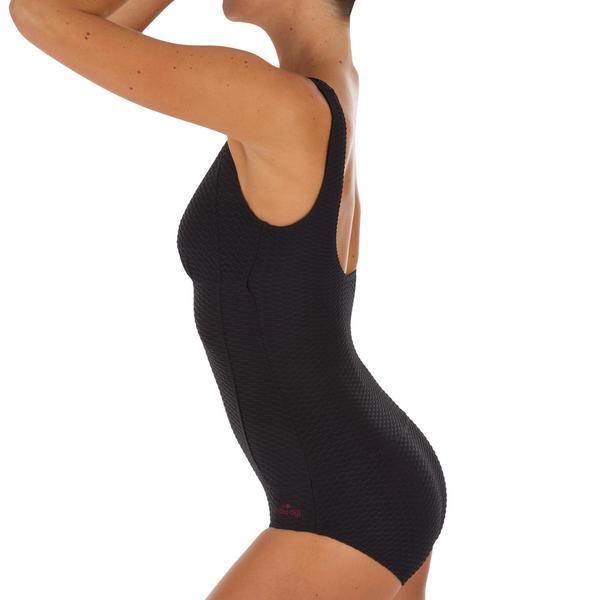 dbe3e837d685 Badeanzug Kaipearl New figurformend Damen schwarz von Decathlon für ...