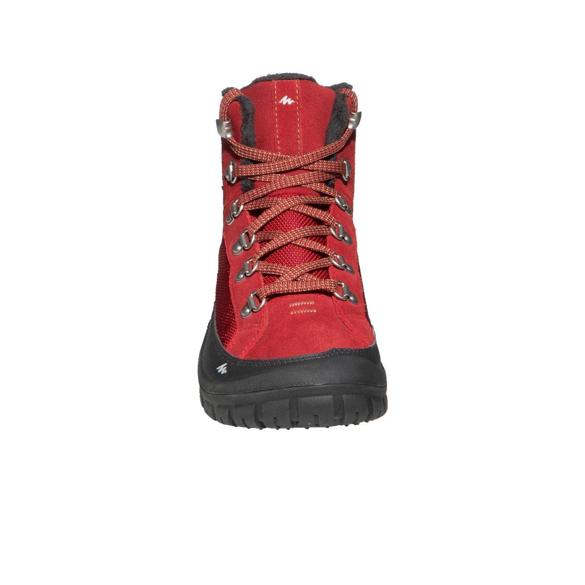 Bild 2 von Winterschuhe Winterwandern Halbhoch SH500 Warm Schnürung Kinder rot