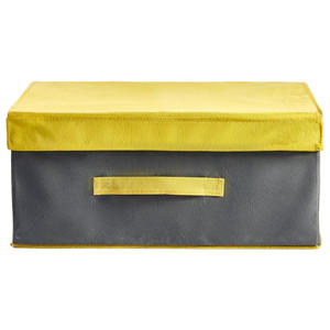XXXL BOX MIT DECKEL, 34X19X24 CM, Grau